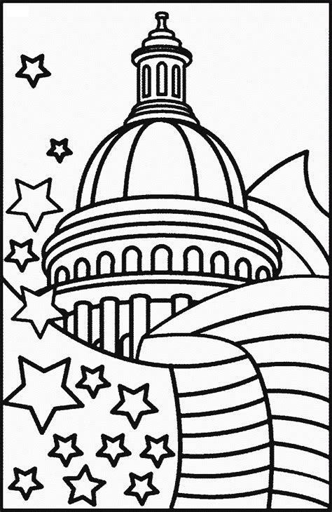 coloring page white house independence day coloring pages coloring part 5