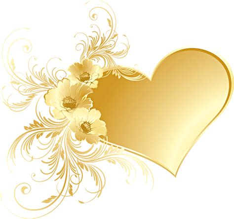 gold wallpaper clipart gold heart with flowers png picture gallery yopriceville
