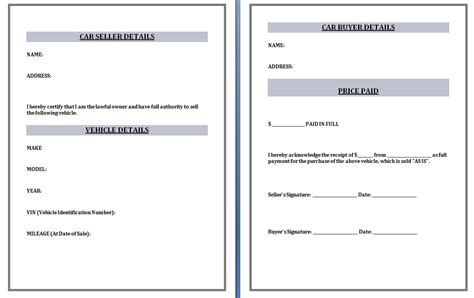 Car Sales Invoice Template Invoice Template Ideas Car Sales Template
