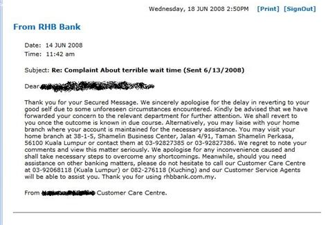 Rhb Bank Letter Of Credit Rhb Bank Customer Service Journal Of An Millionaire Wannabe