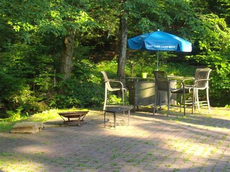 Martinville Streamside Cottages by Firepit And Sitting Area In Back Picture Of Martinville