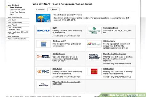 Give Visa Gift Card Online - how to get a visa gift card 3 steps with pictures wikihow