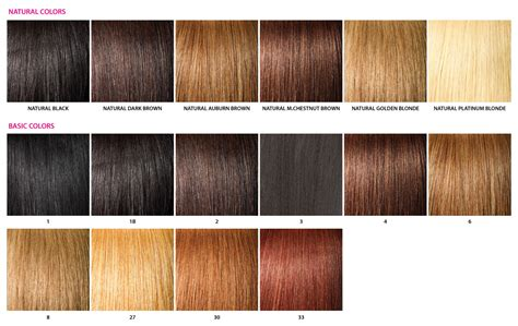 hair color chart color chart