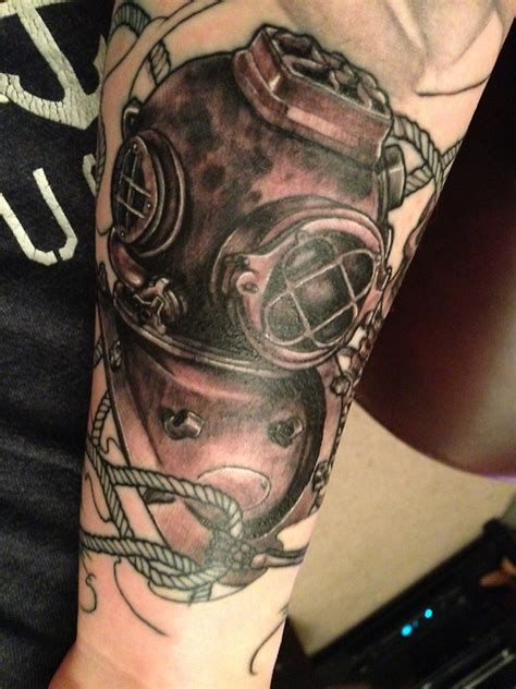 diving tattoos designs diving suit best design ideas