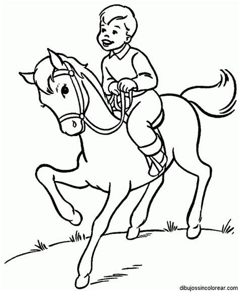 Pony Ride Coloring Pages | caballos para colorear y pintar colorear im 225 genes