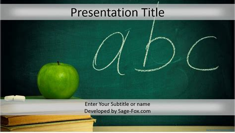 Free Education Powerpoint Template 4266 Sagefox Free Ppt Education Templates