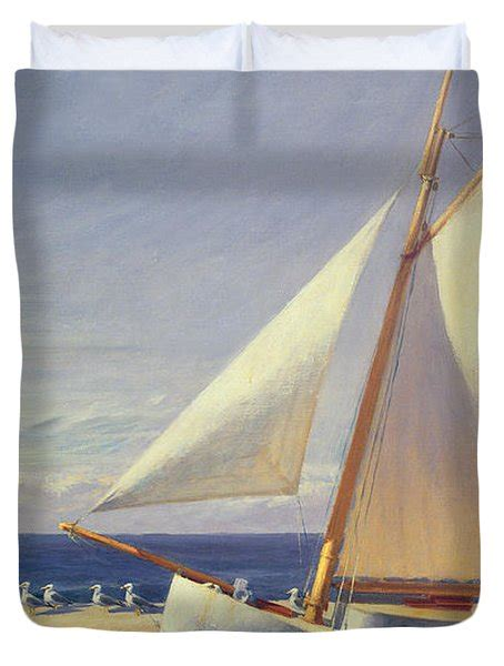 sailing boat duvet cover sailing boat painting by edward hopper
