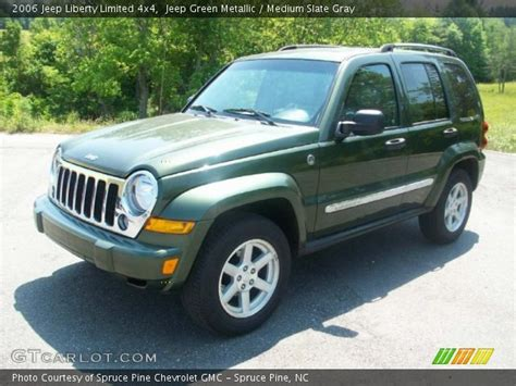 green jeep liberty jeep green metallic 2006 jeep liberty limited 4x4