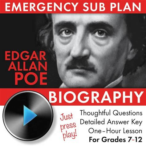 edgar allan poe literary biography literature plays and worksheets on pinterest