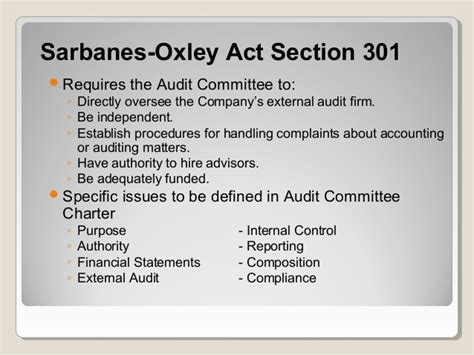 sarbanes oxley section 302 section 302 sarbanes oxley 28 images universit 224 di