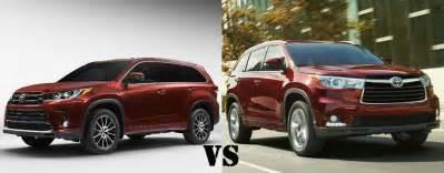 Toyota Highlander Vs 2017 Toyota Highlander Vs 2016 Toyota Highlander