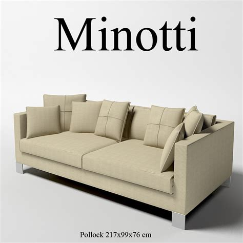 minotti sectional sofa 3d minotti pollock modern model