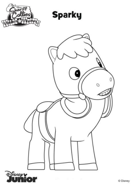coloring pages of sparky the n de 8 ausmalbilder sherrif callie