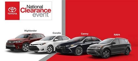 toyota national toyota national clearance event 2018 toyota camry 2017