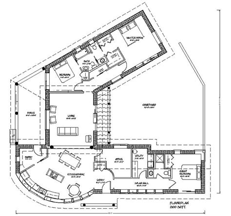 25 best ideas about courtyard house plans on