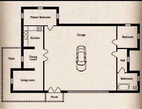 Small Home with a Big Garage (Floor Plan)