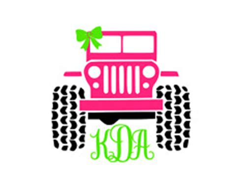 Jeep Initials Monogram Jeep Ebay