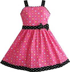 Sunny fashion girls dress heart print pink playwear dresses clothing