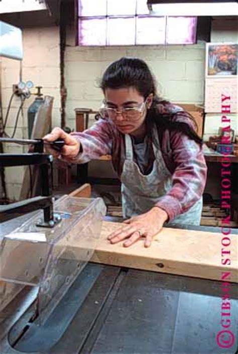 wood pattern maker jobs released woman working in commerical wood shop stock photo