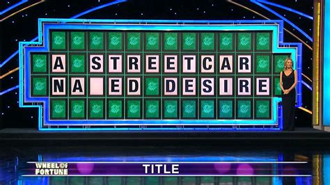 Wheel Of wheel of fortune contestant s streetcar named desire