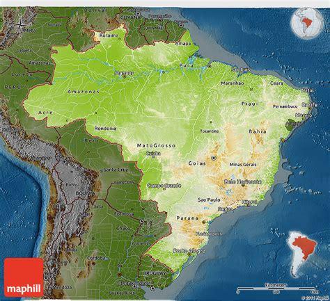 brazil physical map physical 3d map of brazil darken