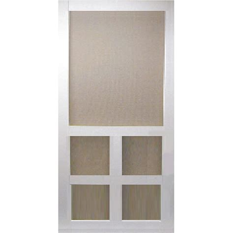 Screen Doors Home Depot Exterior Door Bay 36 In X 80 In White Vinyl Screen Door Dsvi36 The Home Depot