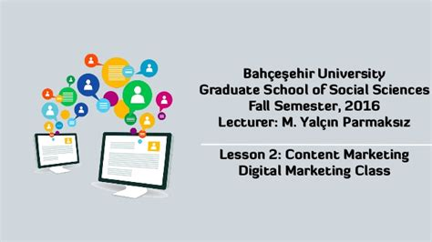 Marketing Classes 1 by Content Marketing Lesson 2 Of Bahcesehir