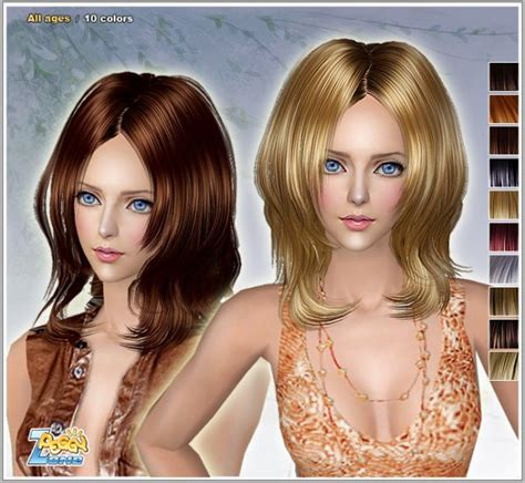 sims 2 coiffure sims 2 coiffure de peggyzone coupe femme couleur rouge