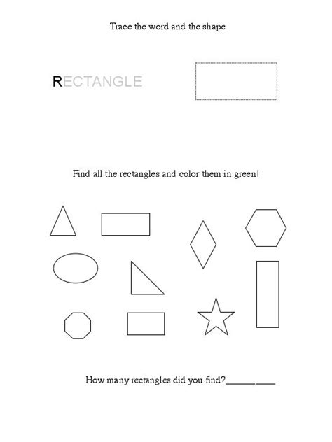 Rectangle Worksheet by Free Rectangle Worksheet