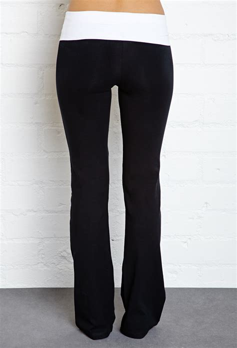 fold over yoga pants sewing pattern lyst forever 21 fold over yoga pants in black