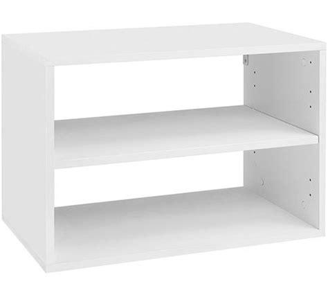white box shelves freedomrail o box shelf unit white in freedomrail o boxes
