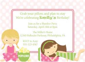 slumber invitation sleepover invite birthday