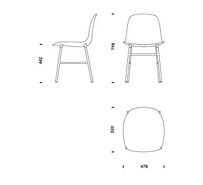 stuhl 2d armchair 2d drawing