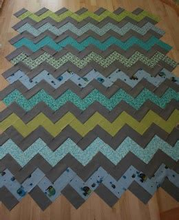 Chevron Quilt Pattern No Triangles by Bee Square Guest Quilts Make A