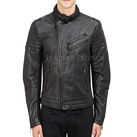 summer bike jacket motorcycle summer leather jacket for men