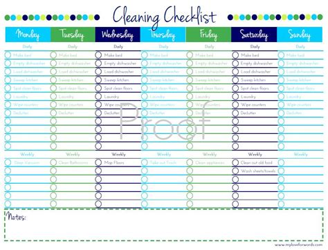 house chores checklist template printable house cleaning checklist template search