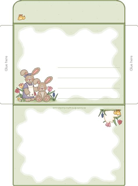 free printable envelope borders easter basket clipart and basketry web page graphics