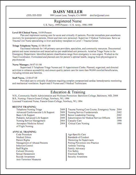 registered nurse resume sample lifespanlearn info