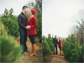Christmas tree farm engagement ideas amp winter wedding decor