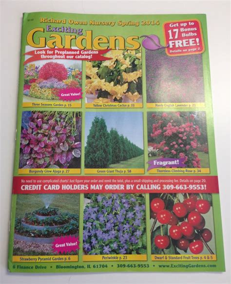 Mail Order Nursery Catalogs get free seed catalogs and plant catalogs