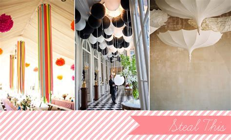 Steal Worthy Idea   Creative Ceiling Decor   Glamour & Grace