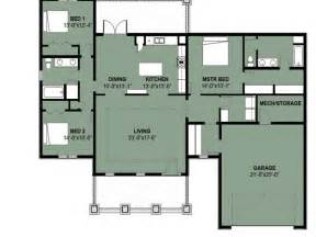 Simple Three Bedroom House Plan by Simple 3 Bedroom House Floor Plans Simple 3 Bedroom 2 Bath