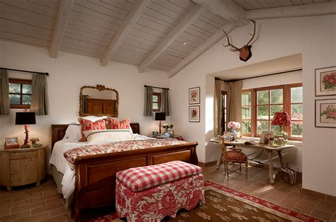 french country estate mediterranean bedroom phoenix  higgins architects