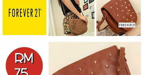 Charles N Keith Ori Murah Ck 70200 Black forever 21 crossbody bag studded brown black sold out shantek collection