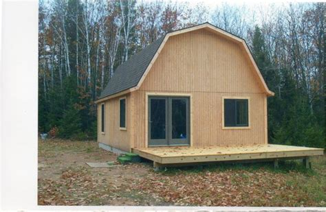 gambrel cabin plans gambrel roof trusses small cabin forum 1