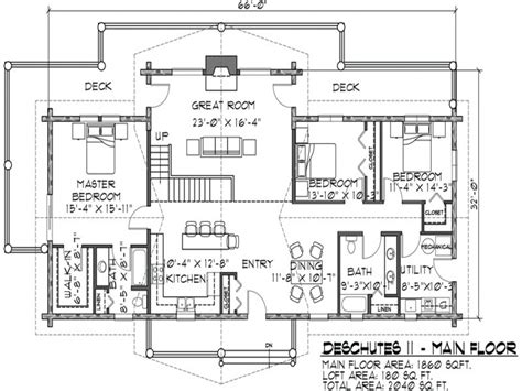 one story log cabin floor plans log cabin floor plans one level