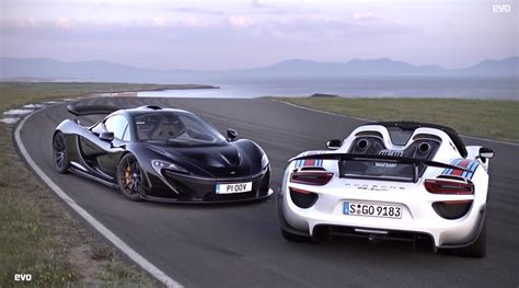 fastest porsche 918 boostaddict evo compares the mclaren p1 and porsche 918