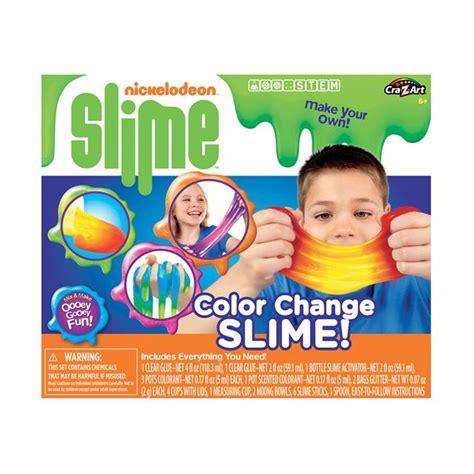 color kit nickelodeon colour changing slime kit