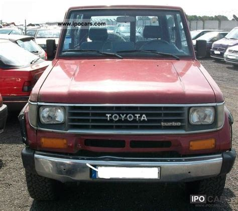 1992 Toyota Specs 1992 Toyota Land Cruiser 2 4 Td Car Photo And Specs