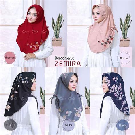 hijab instan bergo serut zemira model terbaru  trend